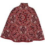 another view of Red and Black Tapestry Cape