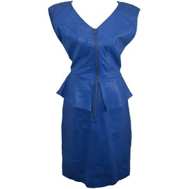 80's Peplum Zip Up Dress by Tannery West