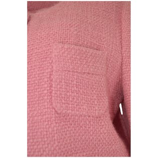 Pink Wool Coat by Barneys New York