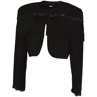 Beaded Fringe Jacket