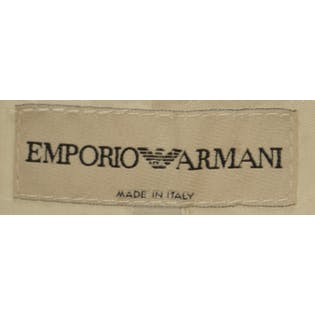 Cream Wool Blazer by Emporio Armani
