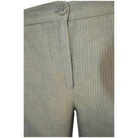 Gray Houndstooth Dress Pants by Emporio Armani