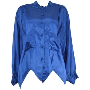 Metallic Blue Blouse by Ginger