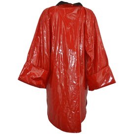 Red Slicker Raincoat by Bon Jour