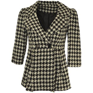 Short Checkered Coat