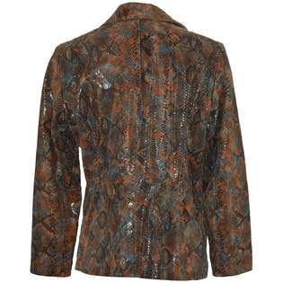 Shiny Faux Snakeskin Coat by Pelle Studio