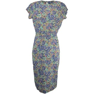 Short Sleeve Floral Maxi with Button Up Back by All That Jazz