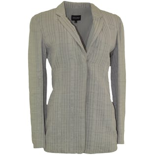 Silk Gray Striped Blazer