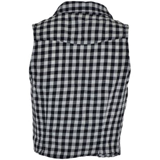Sleeveless Gingham Button Down With Front Knot by H& M