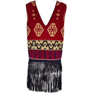 Vest Dress with Fringe by Andrea Jovine