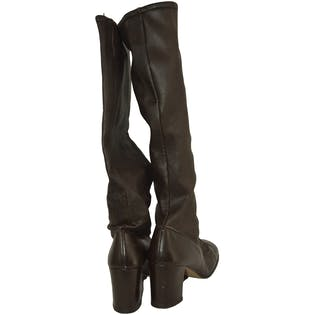 8f4a69675ffa8 Tall Brown Leather Lace Up Boots – Thrilling