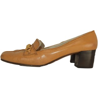 Tan Chained Loafer by Saks Fifth Ave