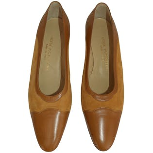 Tan Heel with Scallop Toe by Silvia Fiorentina