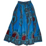 another view of 1990s Turquoise Long Skirt