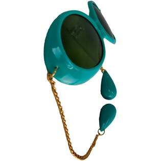 60's Turquoise Sunglasses with Pendants