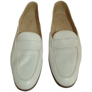 White Loafers by Silvia Fiorentina
