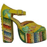 another view of Yellow Platforms with Rainbow Rhinestones