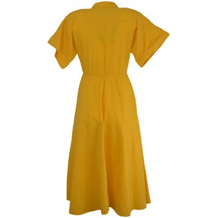Yellow Short Sleeved Sundress by Laine
