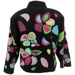 another view of Abstract Floral Embroidered Jacket by Raviya