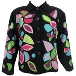 Abstract Floral Embroidered Jacket by Raviya