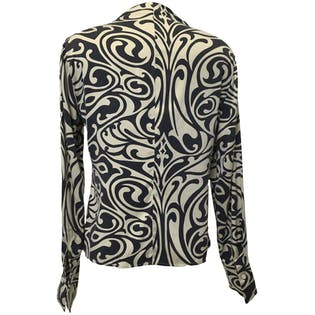 Abstract Print Blouse by Barry Bricken