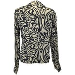 another view of Abstract Print Blouse by Barry Bricken