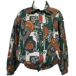 80's Abstract and Floral Print Windbreaker by Fuda International