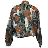another view of 80's Abstract and Floral Print Windbreaker by Fuda International