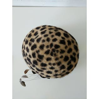 Cheetah Rounded Hat with Velvet Trim by Toucan
