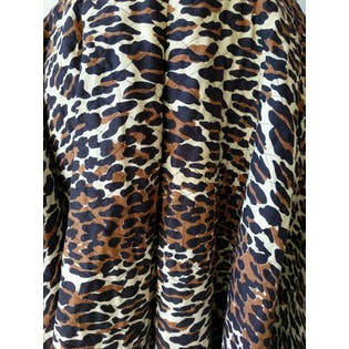 50's Leopard Quilted Circle Skirt