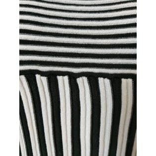 Black and White Striped Short Sleeved Sweater by Armani