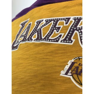 Lakers Rhinestone Strapless Mini Dress by NBA