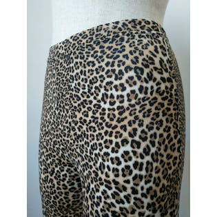 80's Cheetah Print Highwaisted Pants by Alba Moda