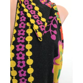 70's Sleeveless Collared Floral Print Maxi Dress by The Ladies Shop Louis Kaplan