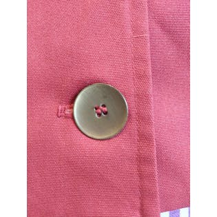 Red Button Front Jacket with Collarby Miss Pat