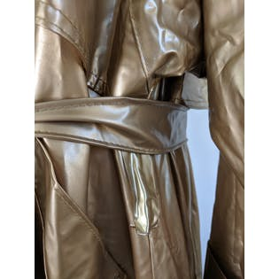 80's Gold Glam Plastic Vinyl Rain Coat by Kenn Sporn For Whippette