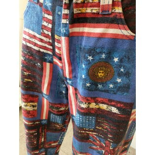 90's Red White and Blue Versace Jeans by Versace