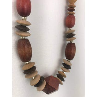 80's Multi Wood Shape Necklace