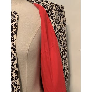 50's Damask Print Evening Coat by Jerry Gilden