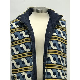 Reversible Denim Puffer Vestby Weight