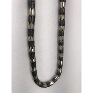 African Silver and Gray Metal Necklace