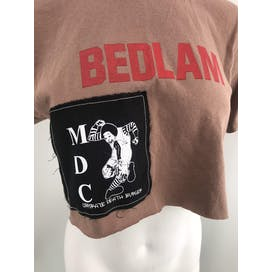 Brown Cropped T-Shirt with Patch by BVD