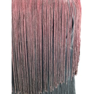 Black and Red Ombre Fringe Dress