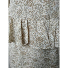 80's Beige and White Floral Dress by Jennifer Moore Petites