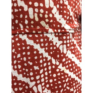 70's Red and White Printed Maxi Wrap Dress by Diane Von Furstenberg For RE-7