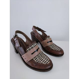 Brown Slingback Loafer by Marni
