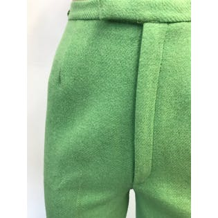 70's High Waisted Green Pants by Sears