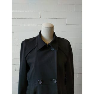 Black Double Breasted Peacoat by Theory