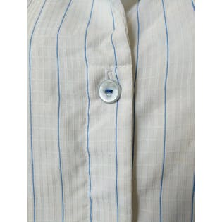 Long Sleeved White Button Up with Small Blue Stripesby Jonquil