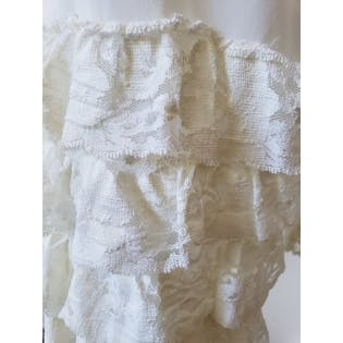 White Bloomers with Lace Ruffle Trim by Opera